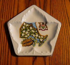 Vintage Souvenir Porcelain tray ONTARIO has Maple Leaf LORD NELSON POTTERY