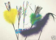 5 lot Mylar Feather Sparkler mix wands cat toy toys