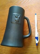 Black Matte Collectible Playboy Bunny Logo Drinking Glass Stein Mug Hefner