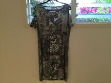 Millers black, white & silver ladies short sleeve dress size 14