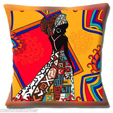 AFRICAIN TRIBAL COCCINELLE ORANGE ROUGE MARRON NUANCES ETHNIQUE 40.6cm