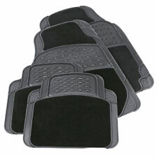 TOYOTA AVENSIS VERSO (2001-2006) HEAVY DUTYBLACK CARPET & RUBBER CAR MAT SET NON