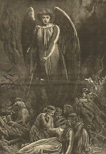 Guardian Angel, Chicago Fire, Angels Protect, Vintage 1871 Antique Print Lot,