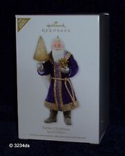 2012 Hallmark FATHER CHRISTMAS Purple & Gold Robe SPECIAL Ed Ltd Qty Ornament