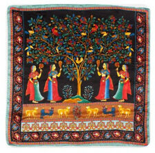 "35"" Square 100% Silk Scarf Women Bandana Shawl Wrap blue black red FJ31070-Y"