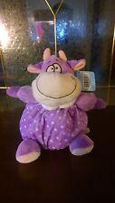 """6"""" Baby Purple  Cow Chubbie W/Rattle - New"""