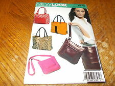 New Look Pattern 6425 ~ HandBags, Purses, Totes, CrossBody Bags~ Fun Styles