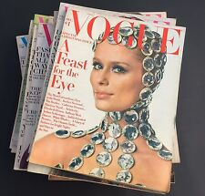 VINTAGE VOGUE MAGAZINE Lot of 18 issues from 1968 wow!!!
