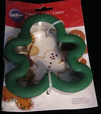 WILTON COMFORT GRIP GINGERBREAD BOY/MAN COOKIE CUTTER BRAND NEW RECIPE!