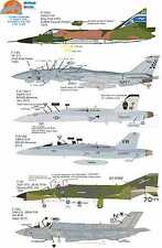 Wolfpak Decals 72-089 Checkmate, F-102A Delta F-14 Tomcat F-35 Lockheed Hornet