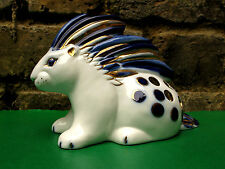 Porcupine Vintage Pencil Holder USSR Russian Porcelain Figurine (Leningrad LFZ)