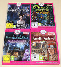 4 PC SPIELE SAMMLUNG ODDLY ENOUGH SISTERS SECRECY SUCH WIMMELBILD MYSTERY KRIMI