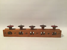 50er Jahre Kerzenständer Emaille & Holz Wood Design Candlestick 50s 60s