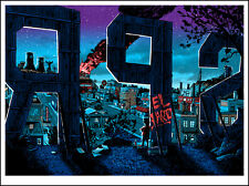 """Springfield"" SIMPSONS Glow in the Dark print by TIM DOYLE Nakatomi Artist BART"