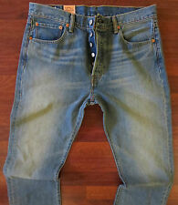 Levi's 501 Straight Leg Jeans Men's Size 36 X 34 Vintage Distressed Wash NEW
