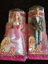 BARBIE WEDDING DAY BRIDE & GROOM KEN DOLL *NEW* CFF37 And CFF38