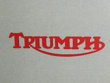 "Large 24"" Triumph Motorcycle Laser Cut Red Swooping R Sign"