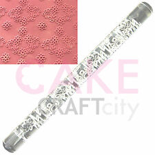 Daisy Garland effect Texture Embossing Acrylic Rolling Pin cake decorating