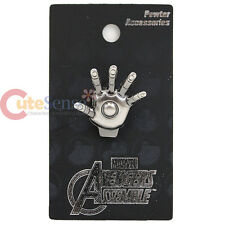 Marvle Avengers Iron Man Hand Pin Badge 3D Pewter Brooch