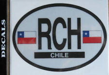 Chile Country Flag Oval Decal