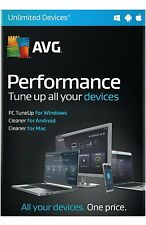 AVG PERFORMANCE 2016  - UNLIMITED DEVICES - WINDOWS  MAC AND  ANDROID - DOWNLOAD