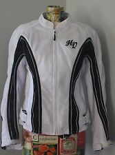 Harley-Davidson HD Women's Small Mesh Black/White Reflective Zip Riding Jacket