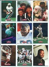 KEITH JACKSON 1993 93 Pro Line Profiles - Complete Set of 9 - Eagles/Dolphins