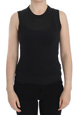 NWT $700 DOLCE & GABBANA Black Sleeveless Crewneck Vest Pullover IT44 / US10 / L