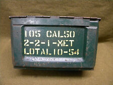 Caisse original cal/50 US WWII WW2 ammunition case box Jeep DODGE Indo mit 12,7