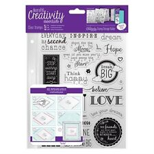 Inspirational Sentiments Clear Stamp Set Creativity Essentials by DoCrafts