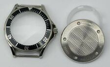 Seamaster solid stainless steel watch case black bezel ETA 2824 seagull ST2130