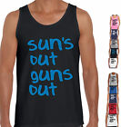 SUN'S OUT GUNS OUT Funny t-Shirts 22 jump street gym size Singlet Men's Ladies