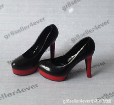 "1/6 scale classic Red Women female boots High Heeled Shoes for 12"" figure body B"