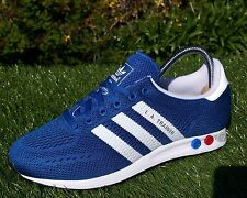 BNWB & Genuine Adidas Originals LA Trainer EM Mesh Blue White Sneakers UK Size 8