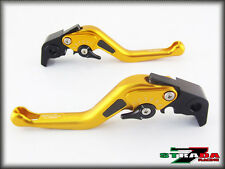 Moto Guzzi AUDACE / ELDORADO Strada 7 Short Adjustable Carbon Inlay Levers Gold
