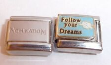FOLLOW YOUR DREAMS 9mm Italian Charm + 1x Genuine Nomination Classic Link FUTURE