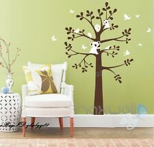 Large Koala Bird Butterfly Tree Vinyl Wall Decals Kids Sticker Nursery Decor
