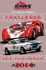 2014 Road America Can-Am/Mustang 50th Event Signed Car Poster Extremely Rare