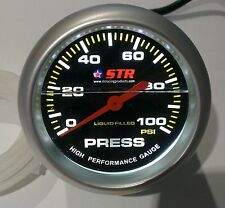 Oil Pressure Mechanical Gauge Liquid Filled High Performance 66mm Cheap STR