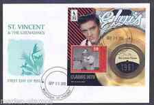 MUSTIQUE  2012 ELVIS PRESLEY  'HIS LATEST FLAME'  CLASSIC HITS S/S  FDC