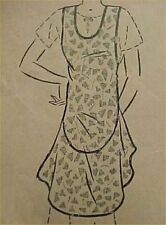 SALE Vintage Bib Apron Full Size Pattern Look FLAPPER 20s Sewing Fabric Project