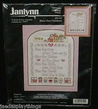 Janlynn Stamped Cross Stitch Kit BLESS OUR CHILDREN #56-111