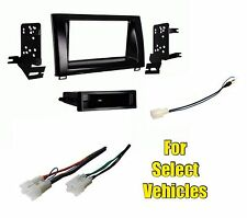 Car Stereo Radio Install Dash Mount Trim Face Kit Combo for 14-15 Toyota Tundra