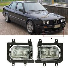 2Pcs Car Front Fog Light Transparent Lens Kit For BMW E30 3-Series 1985-1993