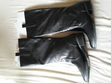 H&M Black Tall High Girls Boots Ladies Womens New size uk 6 faux leather