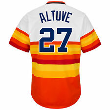 Jose Altuve Houston Astros Rainbow Cooperstown Cool Base Jersey XXL