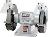 Draper 150MM  Bench Grinder 150W 230V + Eye Protection Shields Spark Deflector