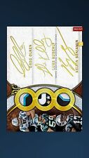 Topps Huddle: Triple Gold Signature Panthers 1/1 Olsen/kuechly/Benjamin