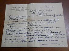 Brutta copia relazione autopsia OSPEDALI RIUNITI DI SALERNO 1944 Caggiano perito