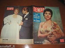 RIVISTA TEMPO 1954/44=GINA LOLLOBRIGIDA=MARLENE DIETRICH=JUAN ALBERTO SCHIAFFINO